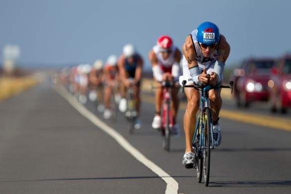 Ciclistas en Kona