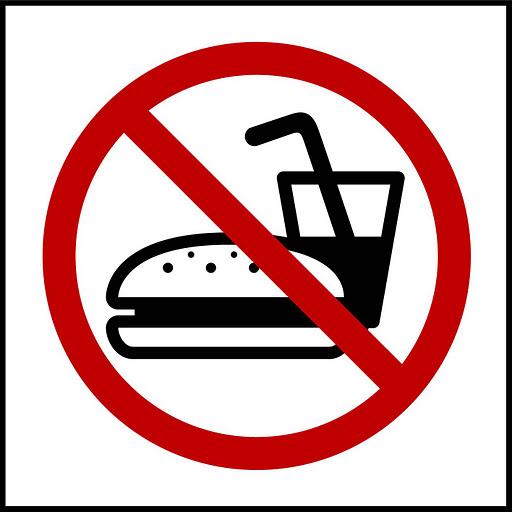 prohibido comer