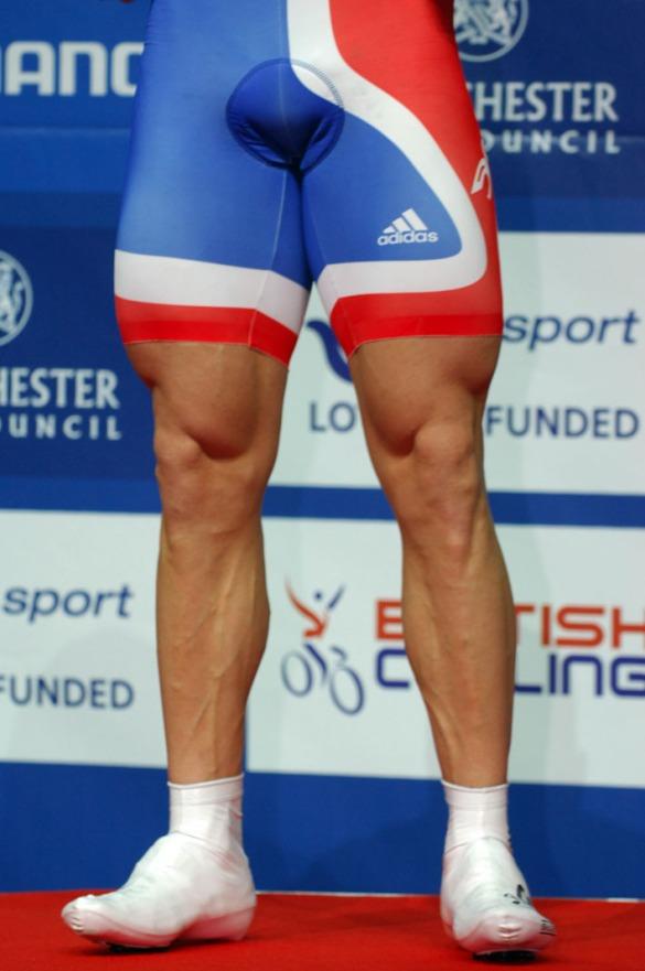 Ciclista Piernas Afeitadas