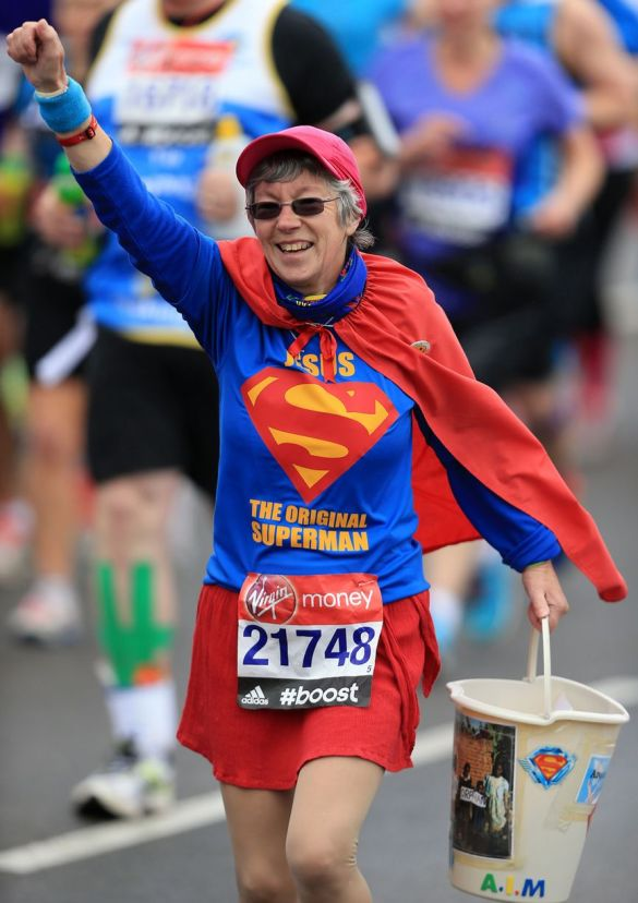 A-runner-dressed-as-Superman